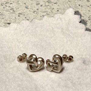 James Avery Silver Heart Knot Earrings